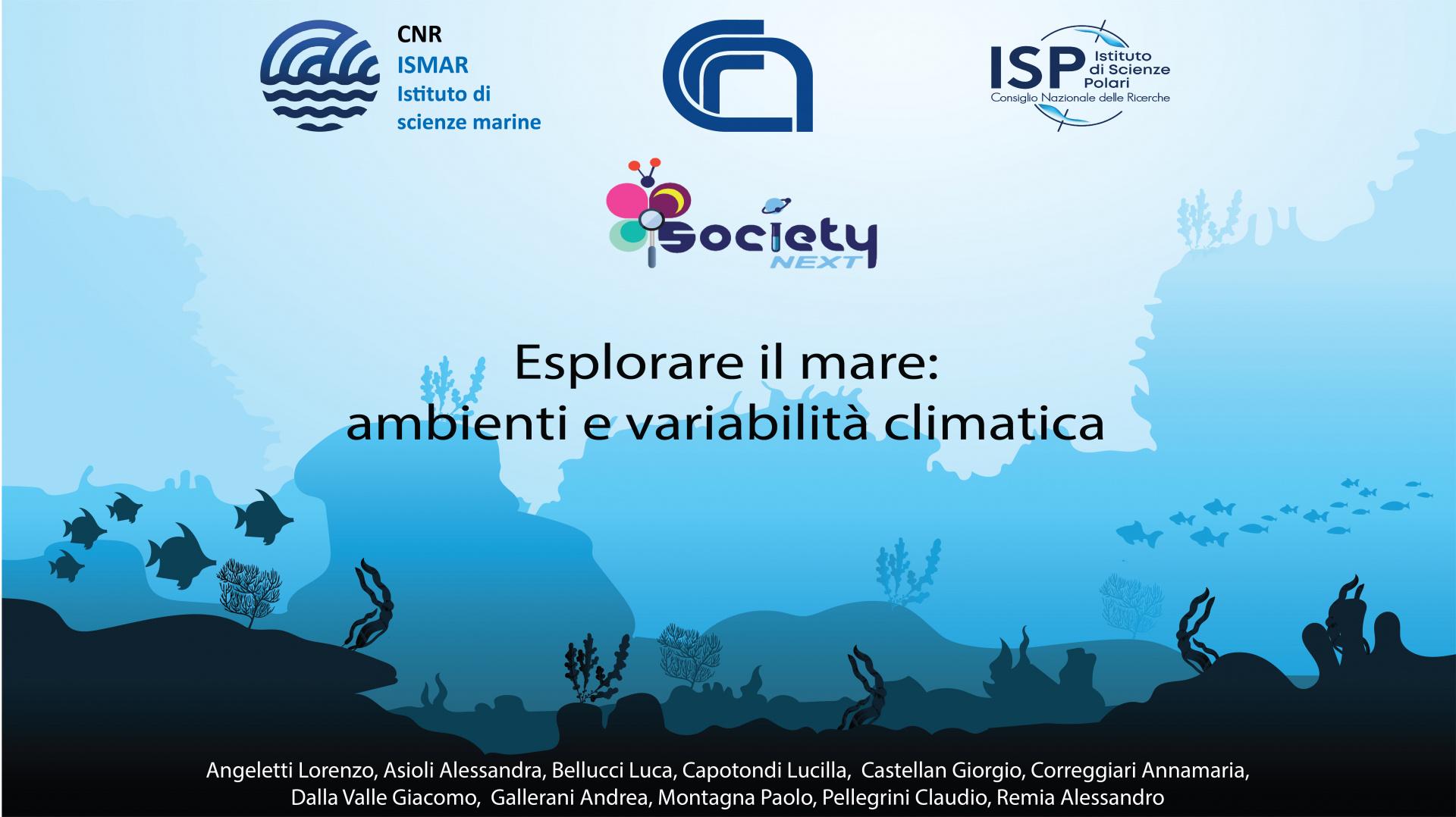 Esplorare il mare: ambienti e variabilità climatica -