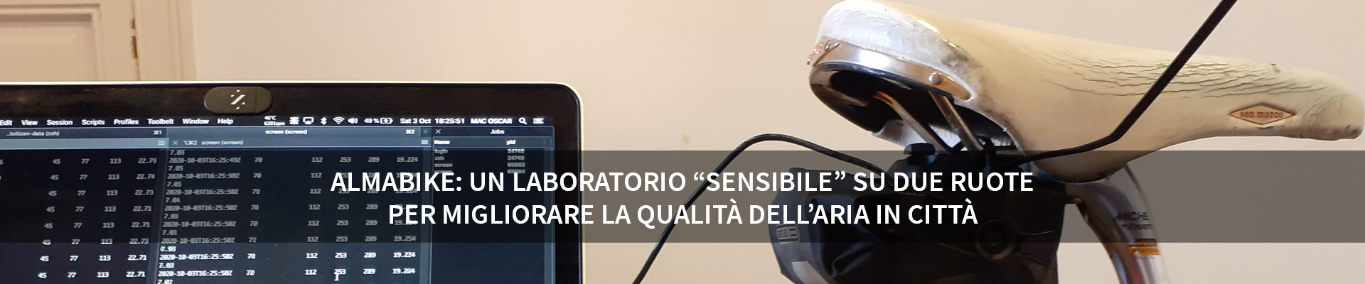 """Almabike: un laboratorio """"sensibile"""" su due ruote per migliorare la qualità dell'aria in città -"""